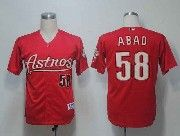 Mens mlb houston astros #58 abad red Jersey