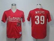 Mens mlb houston astros #39 myers red Jersey