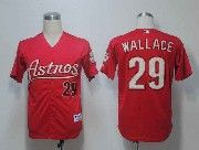 Mens mlb houston astros #29 wallace red Jersey