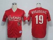 Mens mlb houston astros #19 bogusevic red Jersey