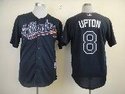 Mens mlb atlanta braves #8 upton dark blue Jersey