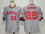 Mens Mlb Los Angeles Angels #29 Carew Gray Throwbacks Jersey