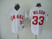 Mens mlb los angeles angels #33 wilson white Jersey