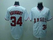 Mens mlb los angeles angels #34 adenhart white Jersey