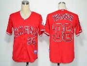 Mens mlb los angeles angels #36 weaver red Jersey