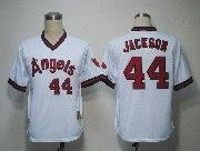 Mens mlb los angeles angels #44 jackson white throwbacks Jersey