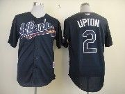 Mens mlb atlanta braves #2 upton dark blue Jersey