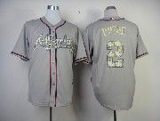 Mens Mlb Atlanta Braves #2 Upton Gray Camo Number Jersey