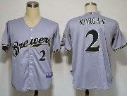 Mens Mlb Milwaukee Brewers #2 Morgan Gray Jersey