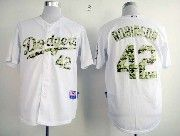 Mens mlb los angeles dodgers #42 robinson white camo number Jersey