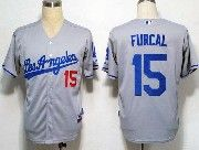Mens Mlb Los Angeles Dodgers #15 Furcal Gray Jersey