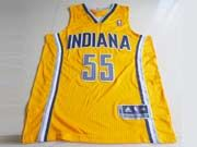Mens Nba Indiana Pacers #55 Hibbert Yellow Revolution 30 Mesh Jersey