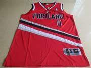 Mens Nba Portland Trail Blazers #0 Lillard Red (v-neck Portland) Jersesy