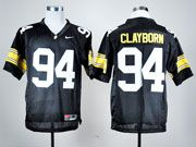 Mens Ncaa Nfl Iowa Hawkeyes #94 Clayborn Black Jersey