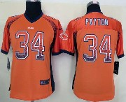 women  nfl Chicago Bears #34 Walter Payton drift fashion orange elite jersey