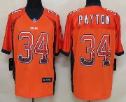 mens nfl Chicago Bears #34 Walter Payton drift fashion orange elite jersey