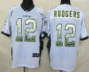 mens nfl Green Bay Packers #12 Aaron Rodgers drift fashion white elite jersey