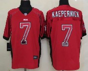 mens nfl San Francisco 49ers #7 Colin Kaepernick drift fashion red elite jersey