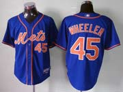 Mens mlb new york mets #45 wheeler blue Jersey