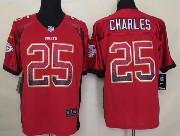 Mens Nfl Kansas City Chiefs #25 Charles Drift Fashion Red Elite Jersey