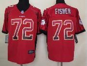 Mens Nfl Kansas City Chiefs #72 Fisher Drift Fashion Red Elite Jersey