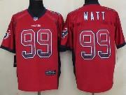 mens nfl Houston Texans #99 JJ Watt drift fashion red elite jersey