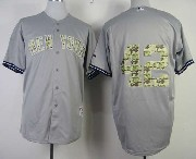 Mens mlb new york yankees #42 rivera gray camo number (no name) Jersey