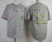 Mens Mlb Los Angeles Angels #32 Hamilton Gray Camo Number Jersey