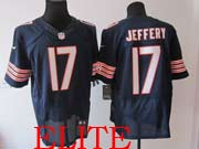 mens nfl Chicago Bears #17 Alshon Jeffery blue elite jersey