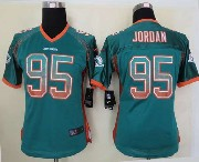 Women  Nfl Miami Dolphins #95 Jordan Green Drift Fashion Elite Jersey