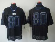 Mens Nfl Indianapolis Colts #80 Fleener Black (light Out) Elite Jersey