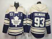 Mens nhl toronto maple leafs #93 gilmour blue c patch hoodie Jersey
