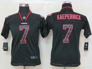 youth nfl San Francisco 49ers #7 Colin Kaepernick black (lights out) elite jersey