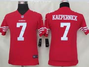 youth nfl San Francisco 49ers #7 Colin Kaepernick red game jersey