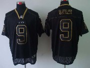 mens nfl New Orleans Saints #9 Drew Brees black (lights out) elite jersey