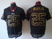 Mens Nfl Kansas City Chiefs #25 Charles Black (light Out) Elite Jersey