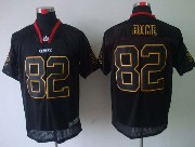 Mens Nfl Kansas City Chiefs #82 Bowe Black (light Out) Elite Jersey