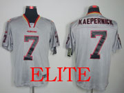 mens nfl San Francisco 49ers #7 Colin Kaepernick gray (light out) elite jersey
