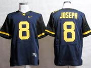 Mens Ncaa Nfl Virginia Mountaineers #8 Joseph Blue Elite Jersey Gz