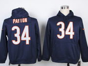 mens nfl Chicago Bears #34 Walter Payton blue hoodie jersey