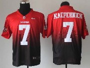 mens nfl San Francisco 49ers #7 Colin Kaepernick red&black drift fashion ii elite jersey