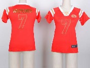 women  nfl San Francisco 49ers #7 Colin Kaepernick red fashion rhinestone sequins jersey