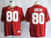 Mens Ncaa Nfl Florida State Seminoles #80 Greene Red (fsu) Jersey Gz