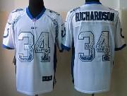 Mens Nfl Indianapolis Colts #34 Richardson Drift Fashion White Elite Jersey