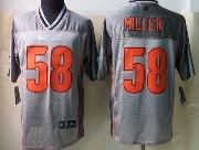 mens nfl Denver Broncos #58 Von Miller gray vapor (2013 new) elite jersey
