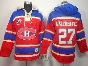 Mens nhl montreal canadiens #27 galchenyuk red hoodie Jersey