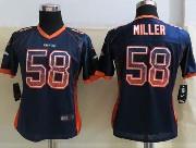 women  nfl Denver Broncos #58 Von Miller drift fashion blue elite jersey