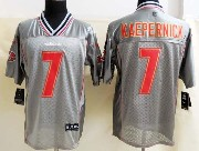 mens nfl San Francisco 49ers #7 Colin Kaepernick gray vapor (2013 new) elite jersey