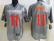 Mens Nfl Kansas City Chiefs #11 Smith Gray Vapor (2013 New) Elite Jersey