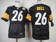 mens nfl Pittsburgh Steelers #26 Le'veon Bell black elite jersey